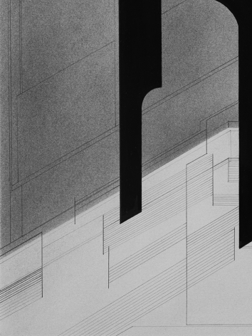 Seher Shah,Foreign dust (Variation 15) (detail), 2019-2020, Graphite dust on paper, 55.9 x 38.1 cm