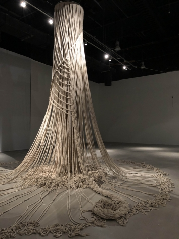 Afra Al Dhaheri,Tasreeha, 2020, Cotton rope, 600 x 600