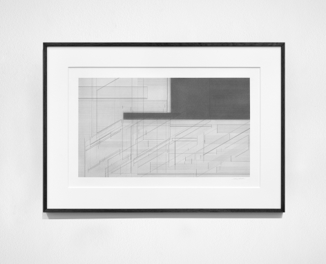 Seher Shah, Foreign dust (Landscape 2), 2019-2020, Graphite dust on paper, 55.9 x 76.2 cm