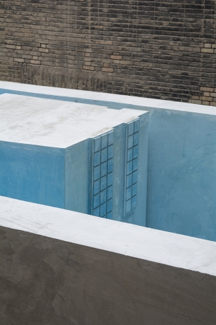 Nazgol Ansarinia, The Inverted Pool (detail), 2019, Concrete, metal, pigment and plaster