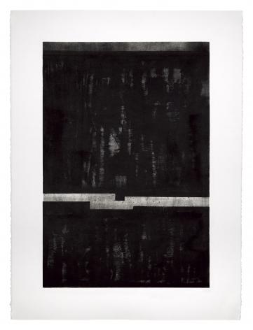 Seher Shah,Night, 2018, Oil on Stonehenge white rag paper, 55.9 x 76.2 cm