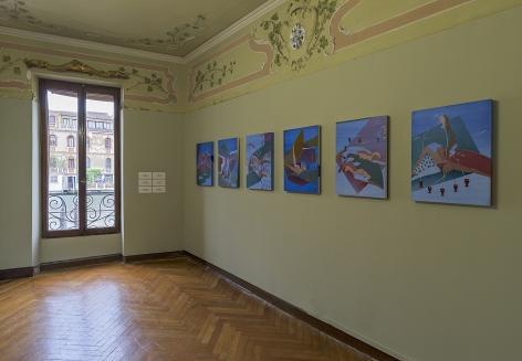 Maryam Hoseini, Installation view at HEARTBREAK, Venice, Italy, 2019