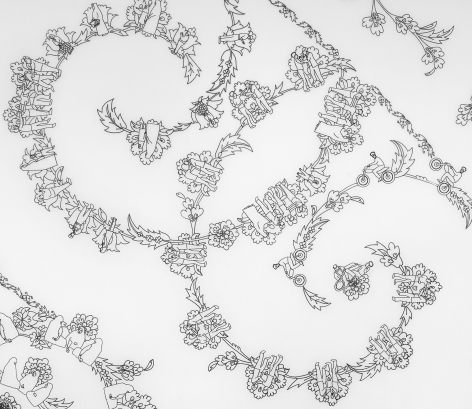Nazgol Ansarinia,Untitled III, Patterns(detail), 2009