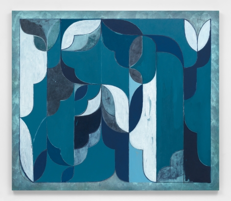 Kamrooz Aram, Untitled (Arabesque Composition), 2021, Oil, oil crayon and wax pencil on canvas, 198.12 x 172.72 cm