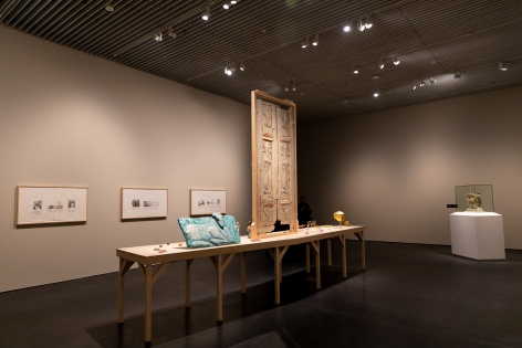 Michael Rakowitz, The invisible enemy should not exist, 2007- ongoing, Installation view at Jameel Arts Centre, Dubai, UAE, 2020