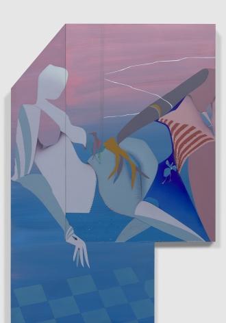 Maryam Hoseini,Two Visitors and Broken Window (detail), 2020