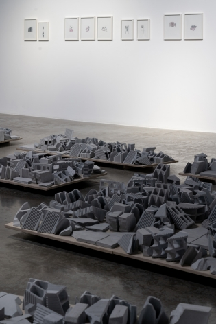 Demolishing buildings, buying waste, Nazgol Ansarinia, Installation view at Green Art Gallery, Dubai, 2018