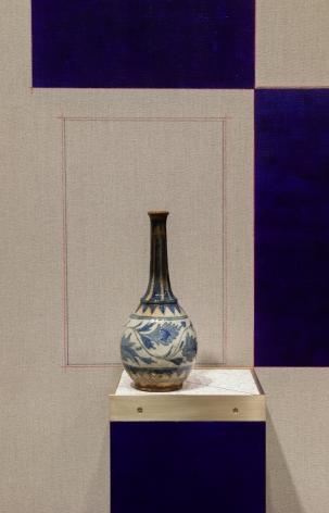 Kamrooz Aram,Blue Backdrop for Minor Arts (detail), 2018