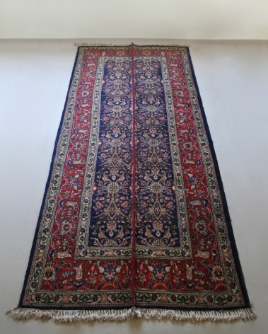 Nazgol Ansarinia, Mendings (tabriz carpet), 2011, Wool, hand-made carpet, 380 x 163 cm