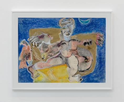 Mohan Samant, Untitled, c.1980-90s, Mixed media on paper, 56.5 x 77.5 cm