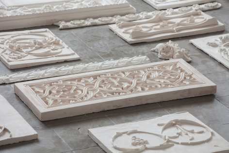 Michael Rakowitz,The Flesh Is Yours, The Bones Are Ours, 2015, Installation view, Galata Greek Primary School, 14th Istanbul Biennial, Turkey, 2015