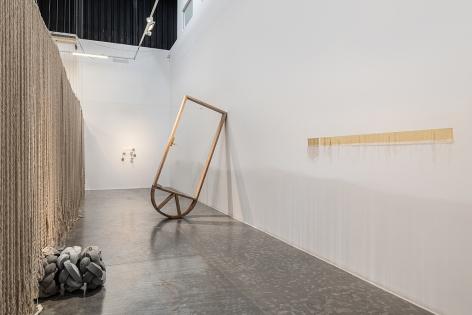 Afra Al Dhaheri, Split Ends, Installation view at Green Art Gallery, Dubai, 2021