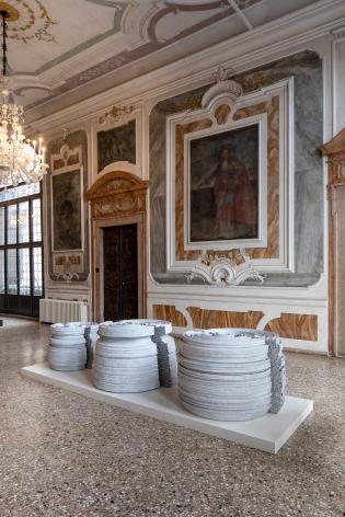 Nazgol Ansarinia,Installation view atTheSparkisYou: Parasol unit in Venice, Italy, 2019