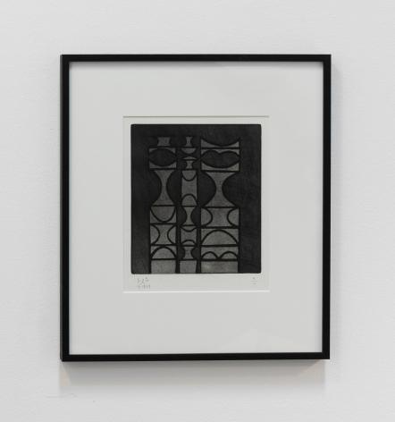 Anwar Jalal Shemza, Family, 1959, Aquatint, 31 x 27 cm
