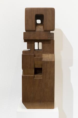 Chaouki Choukini, Pavillon de Lumière, 2014, Iroko,60 x 20 x 20 cm