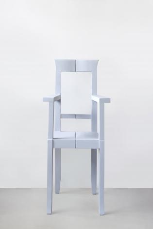 Nazgol Ansarinia, Mendings (grey chair), 2012, Wooden chair, glue, 44 x 41 x 95 cm