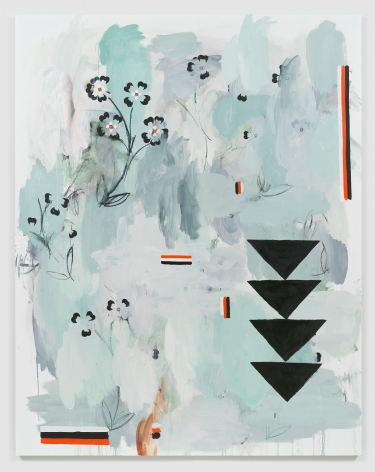Kamrooz Aram, Counterparade, 2018, Oil and oil crayon on linen,213.25 x 167.75cm