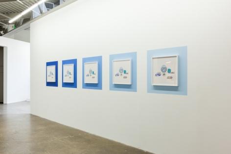 Ancient Blue Ornament, Kamrooz Aram, Installation view at Atlanta Contemporary, Atlanta, Georgia, 2018