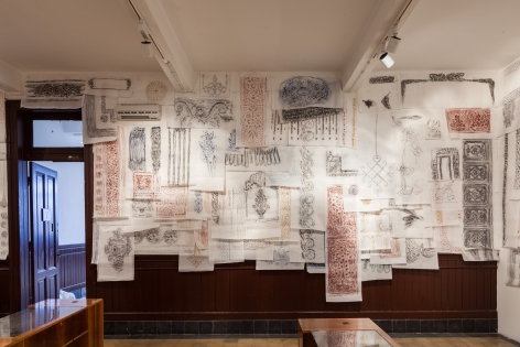 Michael Rakowitz,The Flesh Is Yours, The Bones Are Ours, 2015, Installation view atGalata Greek Primary School, 14th Istanbul Biennial, Turkey, 2015