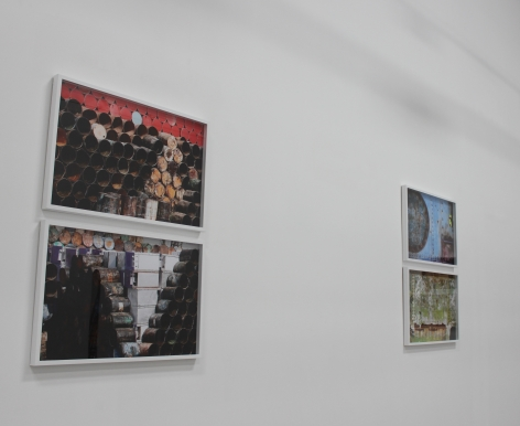 Traces,Jaber Al Azmeh, Installation view at Green Art Gallery, Dubai, 2011