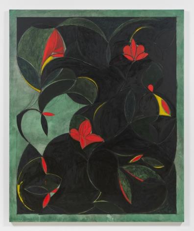Kamrooz Aram, Orange Blossom, 2019, Oil, oil crayon and wax pencil on linen