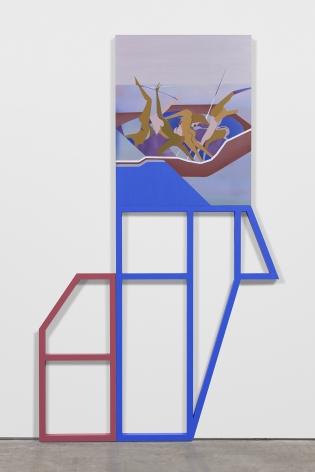 Maryam Hoseini,Modern Chaos, 2020, Acrylic, ink and pencil on wood panel