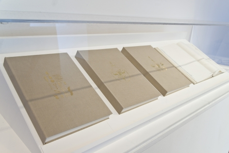 Nazgol Ansarinia, NSS Book Series, 2008, Printed paper bound together in book format with a foil embossed cover