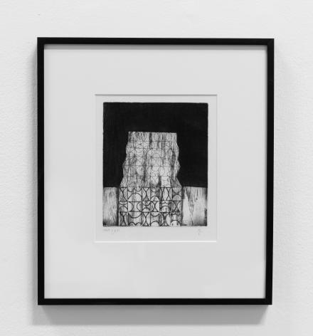 Anwar Jalal Shemza,Edifice, 1959, Etching, 20.8 x 16.5 cm