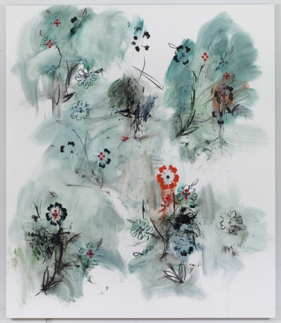 Kamrooz Aram, Le Grand Jeu, 2017, Oil and Oil crayon on linen, 213.25 x 183cm