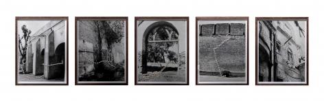 Hera Büyüktasçiyan, Infinite Traces, 2020, Collage with marble mosaic on archival print