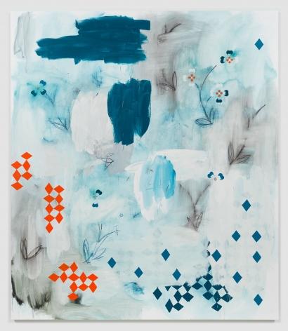 Kamrooz Aram, The Rumor Circuit, 2018, Oil and Oil crayon on linen, 228.5x 198cm