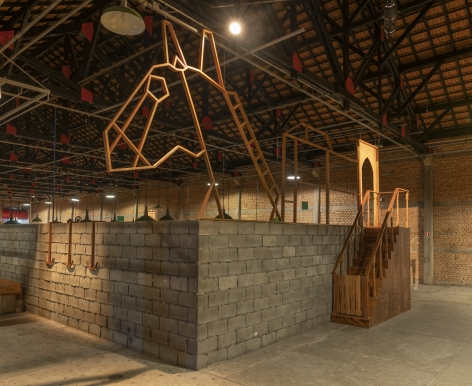 Ana Mazzei, Pediment, 2019, Wood (Peroba mica, cedar and plywood)