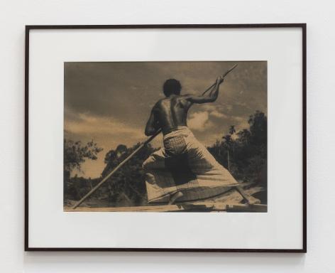 Lionel Wendt, Punting, ca. 1938-1940, Gelatin silver print, 63 x 78 x 2.5 cm
