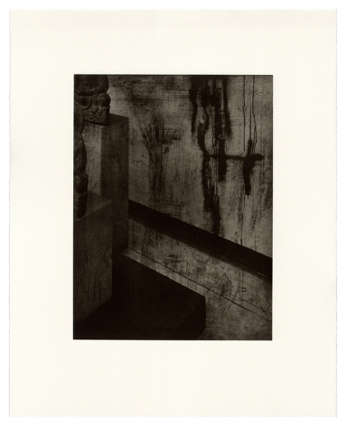 Seher Shah, Argument from Silence (ruin wall), 2019, Polymer photogravures on Velin Arches paper