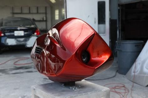 Shadi Habib Allah,S/N: 8F1GNA0021, 2012, Aluminium, 20 gage metal, Video camera, Fiberglass, bond body filler, 155 x 48.25 x 40.5 cm