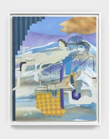 Maryam Hoseini, Look (Horizon #3), 2016, Acrylic, ink and pencil on paper, 71x 61 cm