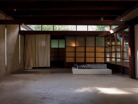 Nazgol Ansarinia, Ceramic Brick, Demolishing buildings, buying waste, 2017, Installation view at DEMO, MAK Center, Los Angeles, USA, 2020
