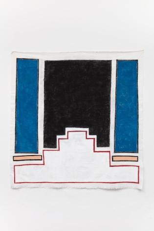 Ana Mazzei, Hall, 2020, Acrylic on linen, 137 x 135 cm