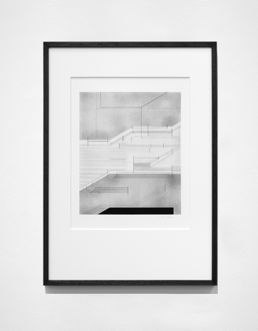Seher Shah, Foreign dust (Variation 1), 2019-2020, Graphite dust on paper, 55.9 x 38.1 cm
