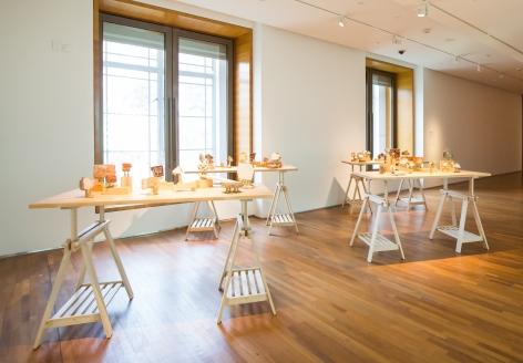 Hera Büyüktaşçıyan, A Study on Endless Archipelagos,2017-2019, Tiles, cement, brick, bronze, wood, Dimensions variable