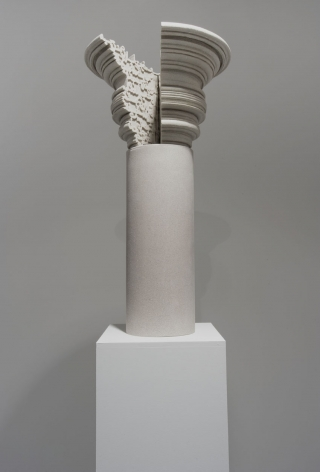 Nazgol Ansarinia, Article 51, Pillars, 2014, Cast resin & paint, 33 x 33 x 62 cm