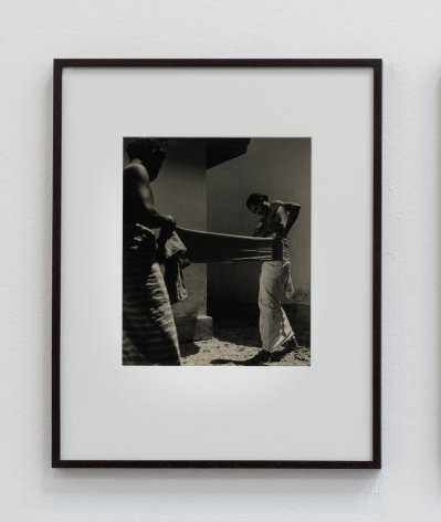 Lionel Wendt, Untitled (Draping the Cloth), ca. 1930-1944, Gelatin silver print, 52 x 42 x 2.5 cm