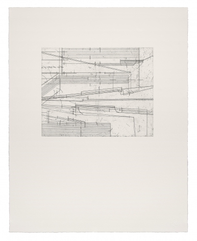 Seher Shah, Ruined Score, 2020, Etchings on Velin Arches 300 gsm paper, 50 x 40 cm