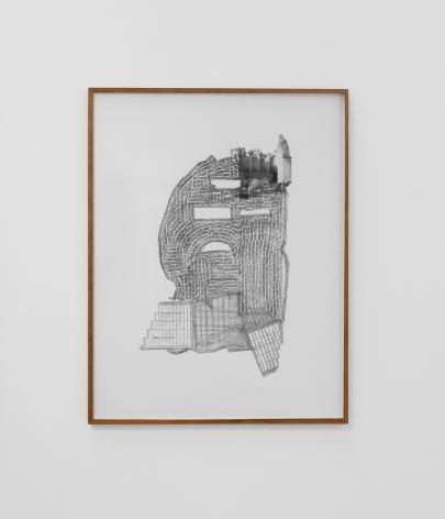 Hera Büyüktaşçıyan, Terrestrial II, 2019, Archival print, graphite on paper,142 x 109.5 cm