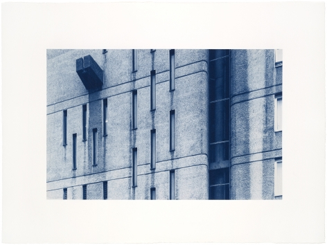 Seher Shah and Randhir Singh, Studies in Form, Brownfield Estate (detail), 2018, Cyanotype prints on Arches Aquarelle paper, 38 x 56 cm