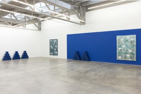 Ancient Blue Ornament,Kamrooz Aram, Installation view at Atlanta Contemporary, Atlanta, Georgia, 2018