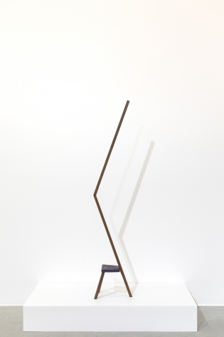 Ana Mazzei, Run Rabbit Run, Camel, 2018, Peroba wood,161 x 32 x 21 cm