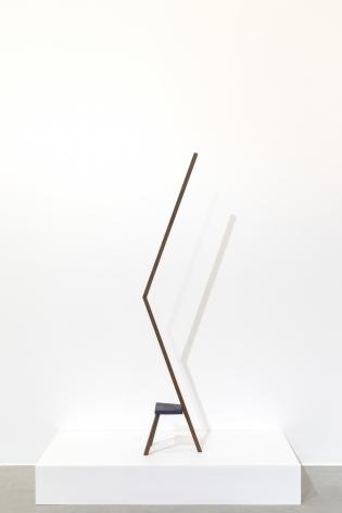 Ana Mazzei, Run Rabbit Run, Camel, 2018, Peroba wood,161 x 32 x 21cm