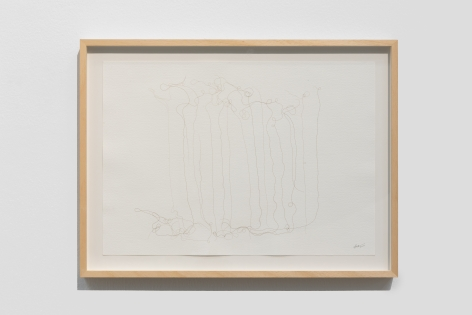 Afra Al Dhaheri, Line Hair Drawing No. 1, 2020