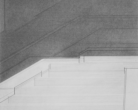 Seher Shah, Foreign dust (Variation 9) (detail), 2019-2020, Graphite dust on paper, 55.9 x 38.1 cm